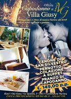 """Capodanno 2018 al """"Villa Giusy"""" 1 Notte in Pensione Completa a soli 149€ a persona!"""